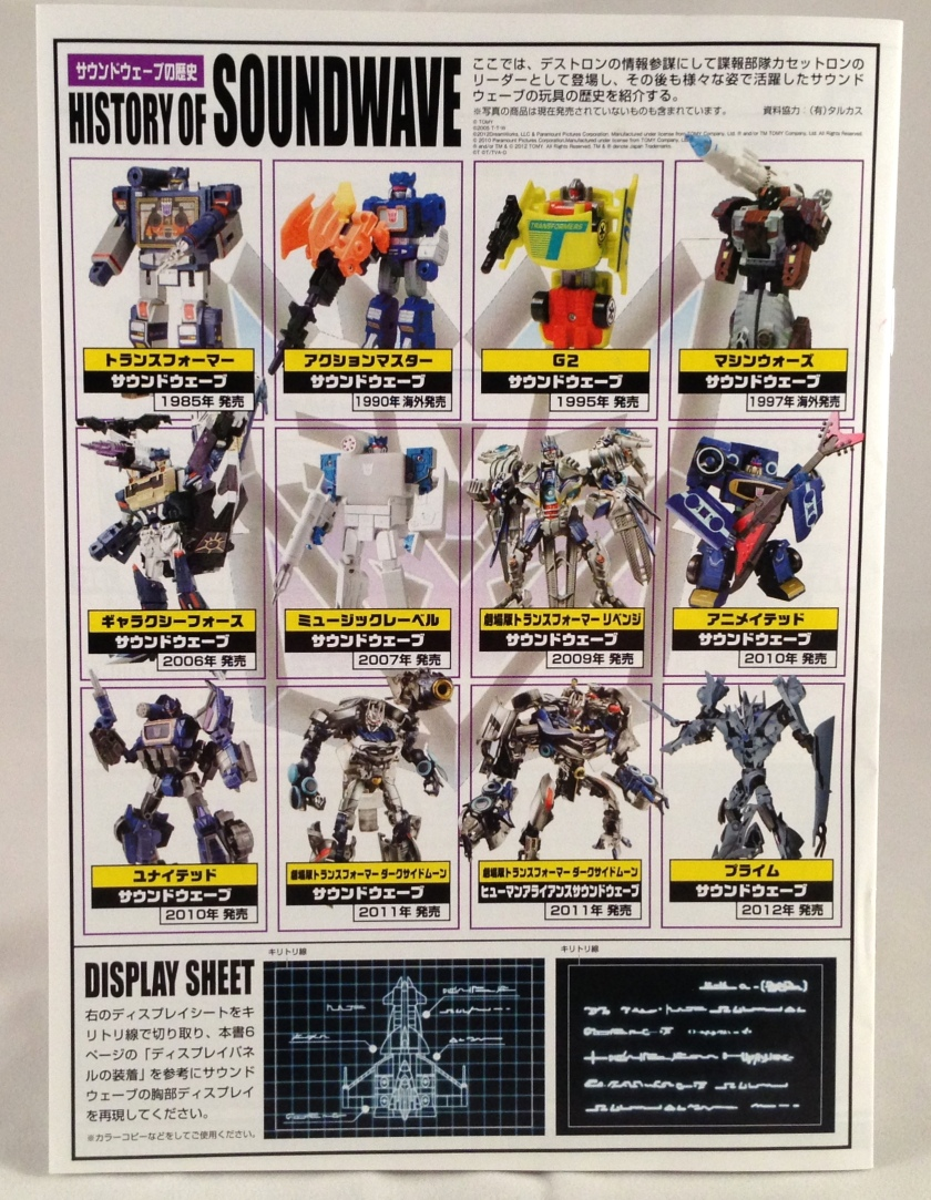 Packaging Soundwave chronology