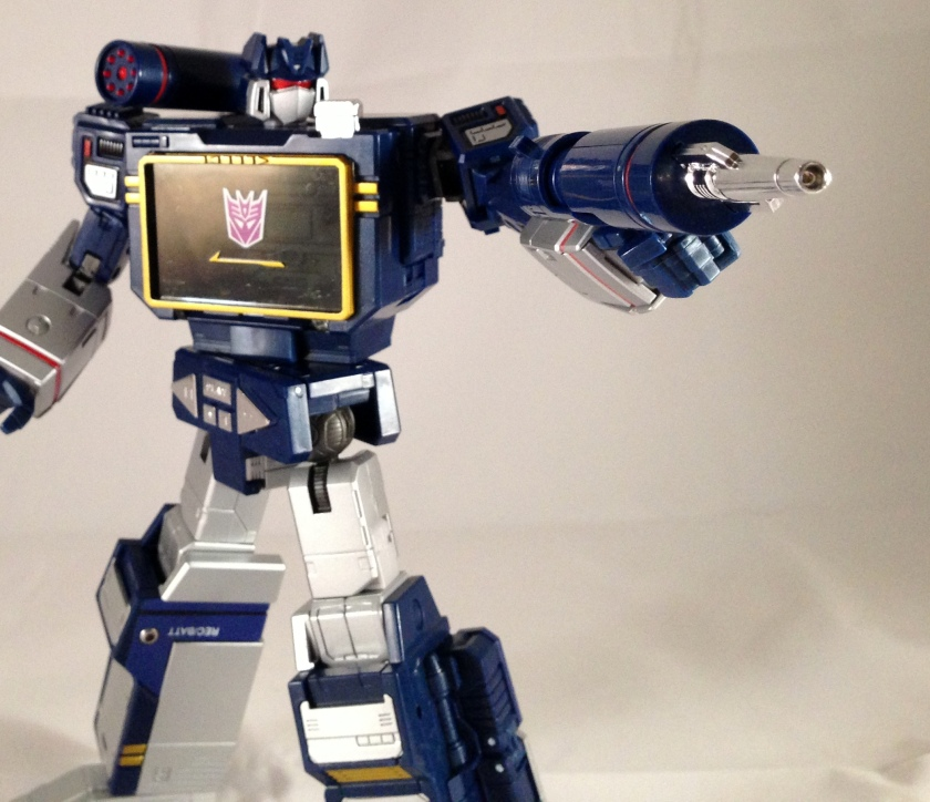 Robot mode concussion blaster sideways shot