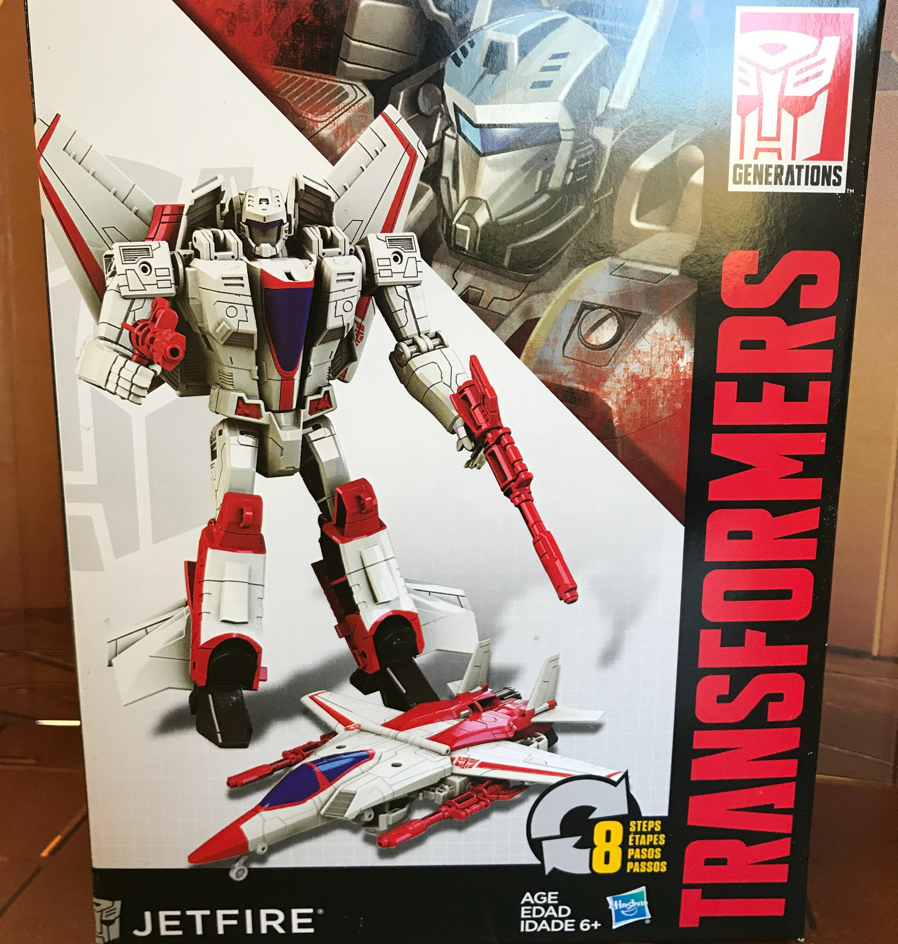 Transformers Cyber Battalion Series Jetfire Autobot Robot Jet Action Figure Toy